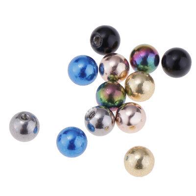 12 Stücke Piercing Schmuck Ersatzball Körperschmuck für Meisten Körper (Körper-schmuck Für Piercing)