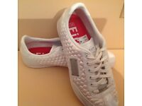 White firetrap Trainers used once
