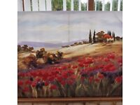 Poppy field painting on canvas