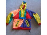 Childs Multi coloured ski jacket