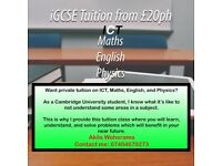 Maths & ICT Tuition