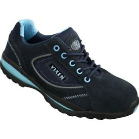 Vixen Pearl Ladies Dark Blue Safety Shoes Trainers PPE Boots UK 3 lightweight