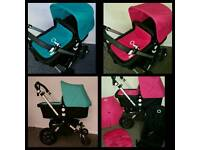 Bugaboo cameleon 3 with choice of fadric pink or petrol