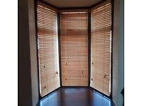 Bay Window Blind Wooden Blinds