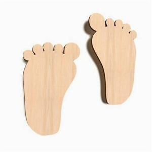30x-Wooden-Baby-Small-Foot-Craft-Feet-Shapes-Blank-Shape-Art-Decoration-W45