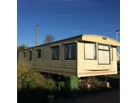 Static caravan 2 beds, 8 berth, shower and separate wc