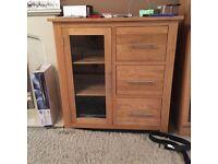 Solid Oak hifi/TV cabinet for sale