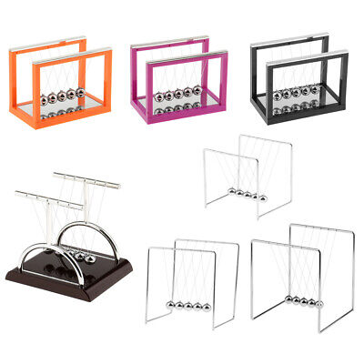Newtons Cradle With Metal Balance Ball Physics Science Toy Teaching Accessories