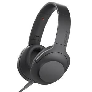 NEW Sony h.ear on Premium Hi-Res Over-Ear Headphones, Charcoal Black