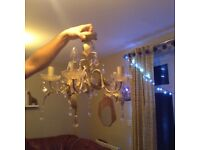 4 chandeliers shabby chic