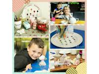Summer Holiday Pottery Painting activity at home!