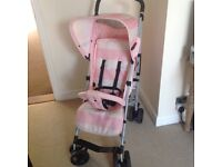 Billie Faiers pink stripe Buggy