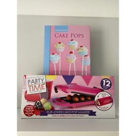 NEW Cake pop maker and recipe book