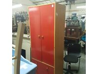 Double beds and wardrobes red