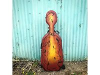 Cello, bow and hard case for sale.