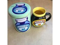 Marmite cup and tin