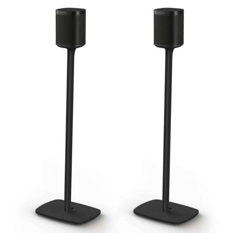 Flexson S1-FS Floor Stands for Sonos One, One SL, and PLAY:1 - Pair (Black)