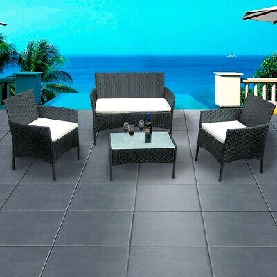 Garden Furniture - Rattan Garden Furniture Patio Corner Sofa Set Wicker Steel Outdoor Weatherproof
