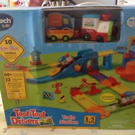 Brand new V-Tech Toot Toot Drivers Train Station