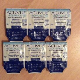 3 Pairs Dailies Johnson & Johnson -3.00 Contact Lens Acuvue Advance with Hydraclear Daily