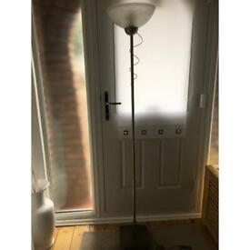 Brushes brass floor lamp