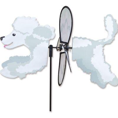 Poodle Dog BLACK Metal Swirly Sphere Wind Spinner *NEW*