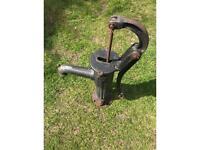 Wrought iron water pump