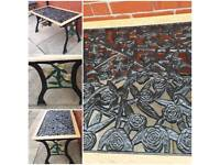 Refurbished wrought irons table.