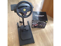 PS3 and PC Compatible Thrustmaster Ferrari GT Experience Racing Wheel with pedals and stand