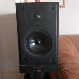 2 x Mordaunt Short HT-30 Bookshelf Speakers & Stands