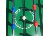 Garlando table football - as good as new - perfect for outside or inside games - easy to store