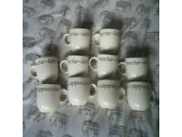 10 X Creative Tableware Italian Mugs Cups