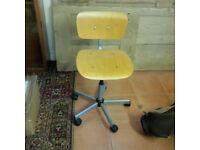 Swivel Pine desk chair