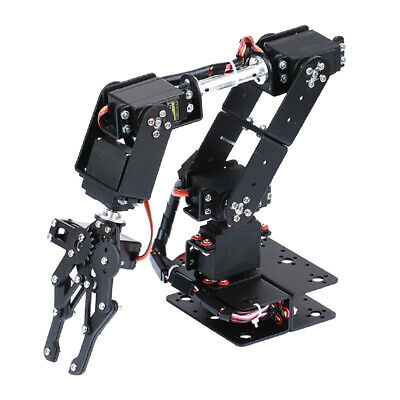 6-dof Mechanical Robot Arm Claw Clamp Diy Assembly Educational Accessory Kit
