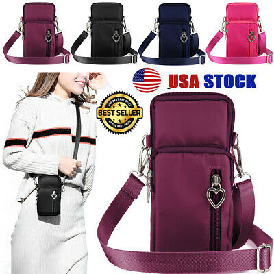 Wallet Purse With Strap (Women's Mini Cross-Body Cell Phone Shoulder Wallet Pouch Sling Bag Purse)