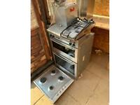Neff double multifunction oven, Hob and extractor Fan - Broken Glass.