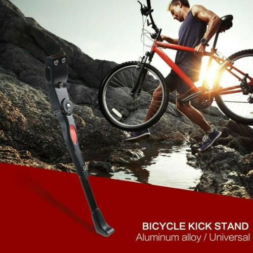 Mountain Bike Bicycle Adjustable Aluminum Alloy Side Kickstand For 22 to 27 inch