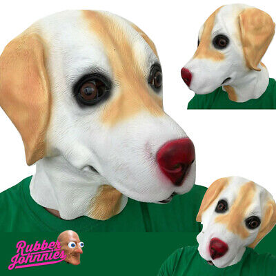 Golden Labrador Perro Máscara de Látex Animal Accesorio Disfraz Canino Cachorro