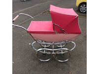 Silver cross pram in baby pink