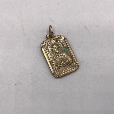 Vintage Jesus Embossed Religious Medal