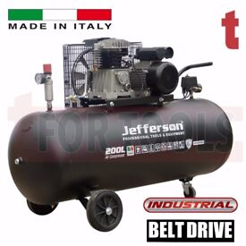 Jefferson 200 Litre Air Compressor 10 BAR 13amp Made in Italy