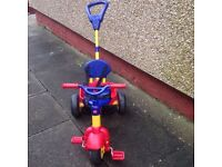 Quality Condition Kids Trike Bike with Seatbelt and Pushing Handle