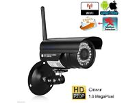 Outdoor Wireless WiFi 720P HD IP Camera CCTV Network Security ONVIF Night Vision