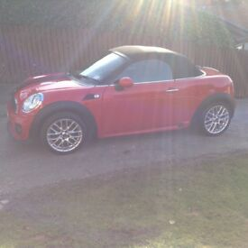 Mini Cooper Roadster Convertible. Red Over £4,000 of extras fitted from new. MOT till Jan19.
