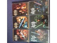 Star Wars Epsiodes I-VI DVD's