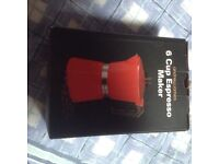 Six cup espresso maker in red brand new