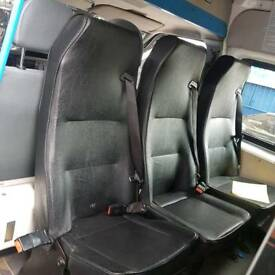 Camper day van seats and table conversion Clarks mess van Transit