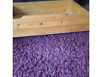 X2 pine wooden drawers on wheels