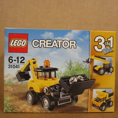 Lego 31041 Creator Construction Vehicles - Loader Backhoe Crane Dumptruck