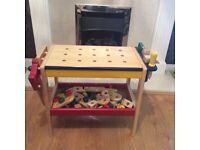 Childs toy wooden work bench with tools,top quality toy